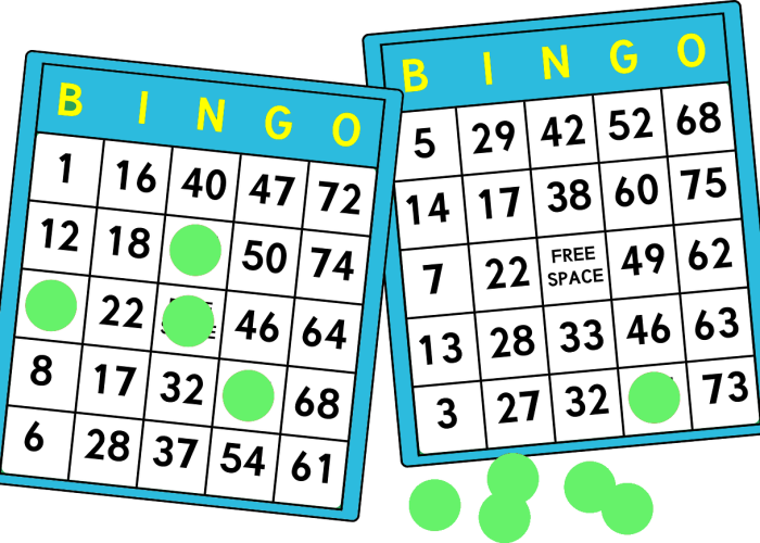 bingo game sheet for kids activities
